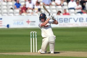 In fine form - Dan Lawrence is closing in on his second century of the season. Picture: GAVIN ELLIS/TGSPHOTO