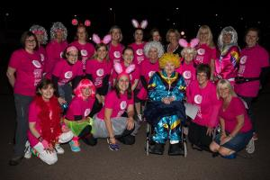More than 800 women took part in the walk which finished at 2.30am this morning.