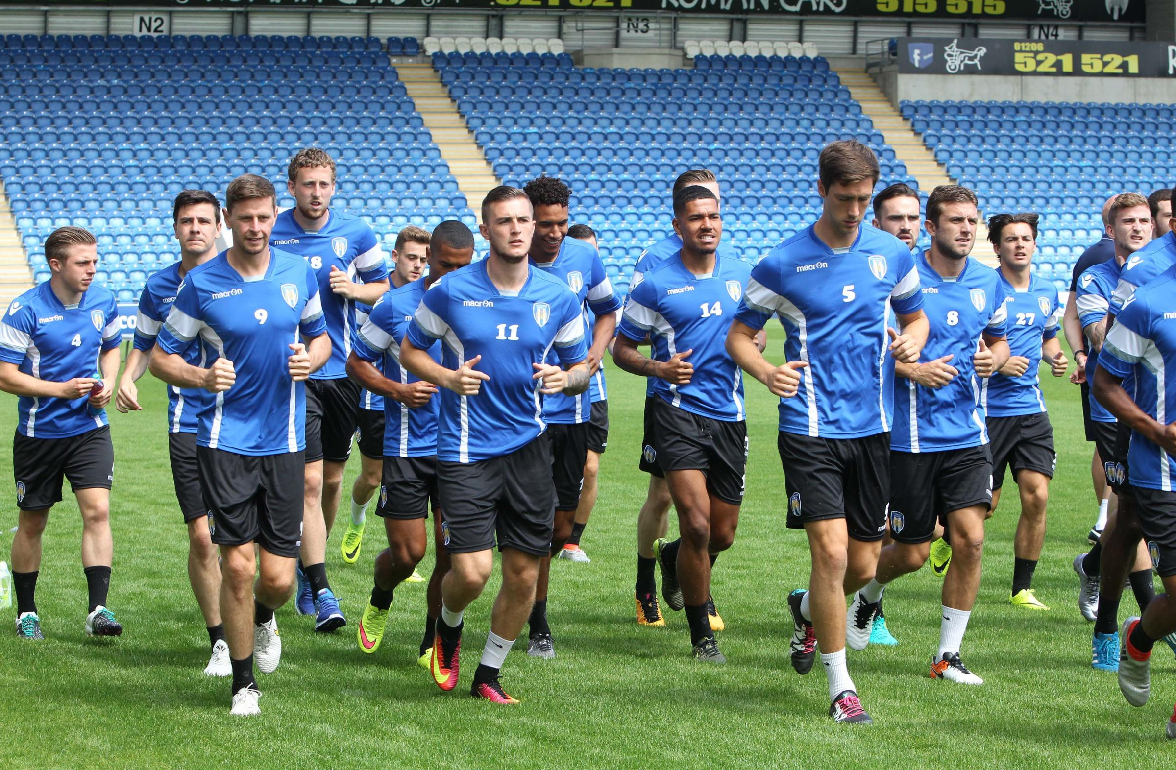 Preparation - Colchester United, pictured during last year's pre-season preparations, will return to Cheshire for a pre-season training camp next month. Picture: STEVE BRADING