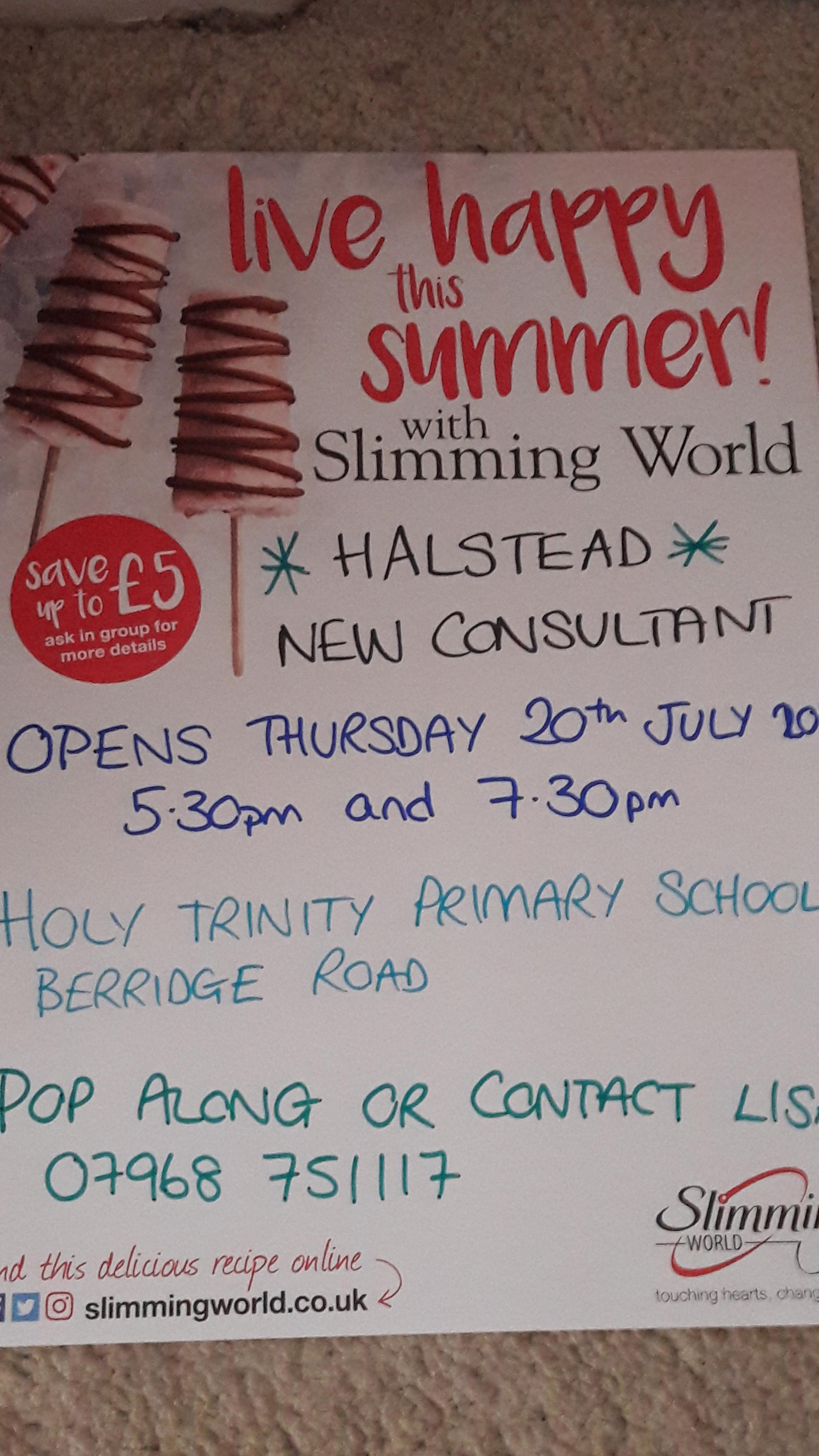 Slimming world Halstead Relaunch