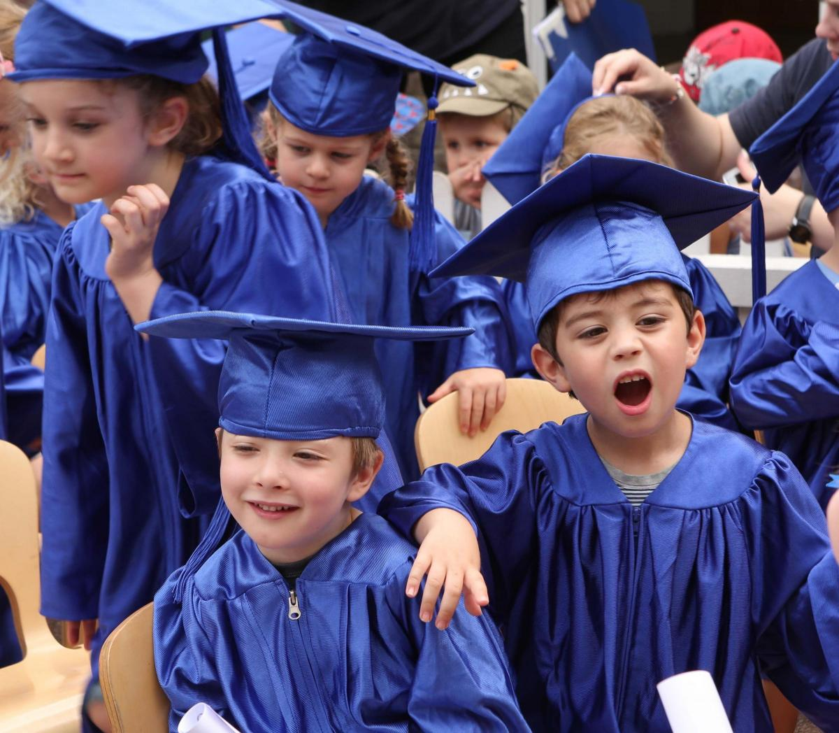 Youngsters grab their gowns for kindergarten graduation from Lexden ...