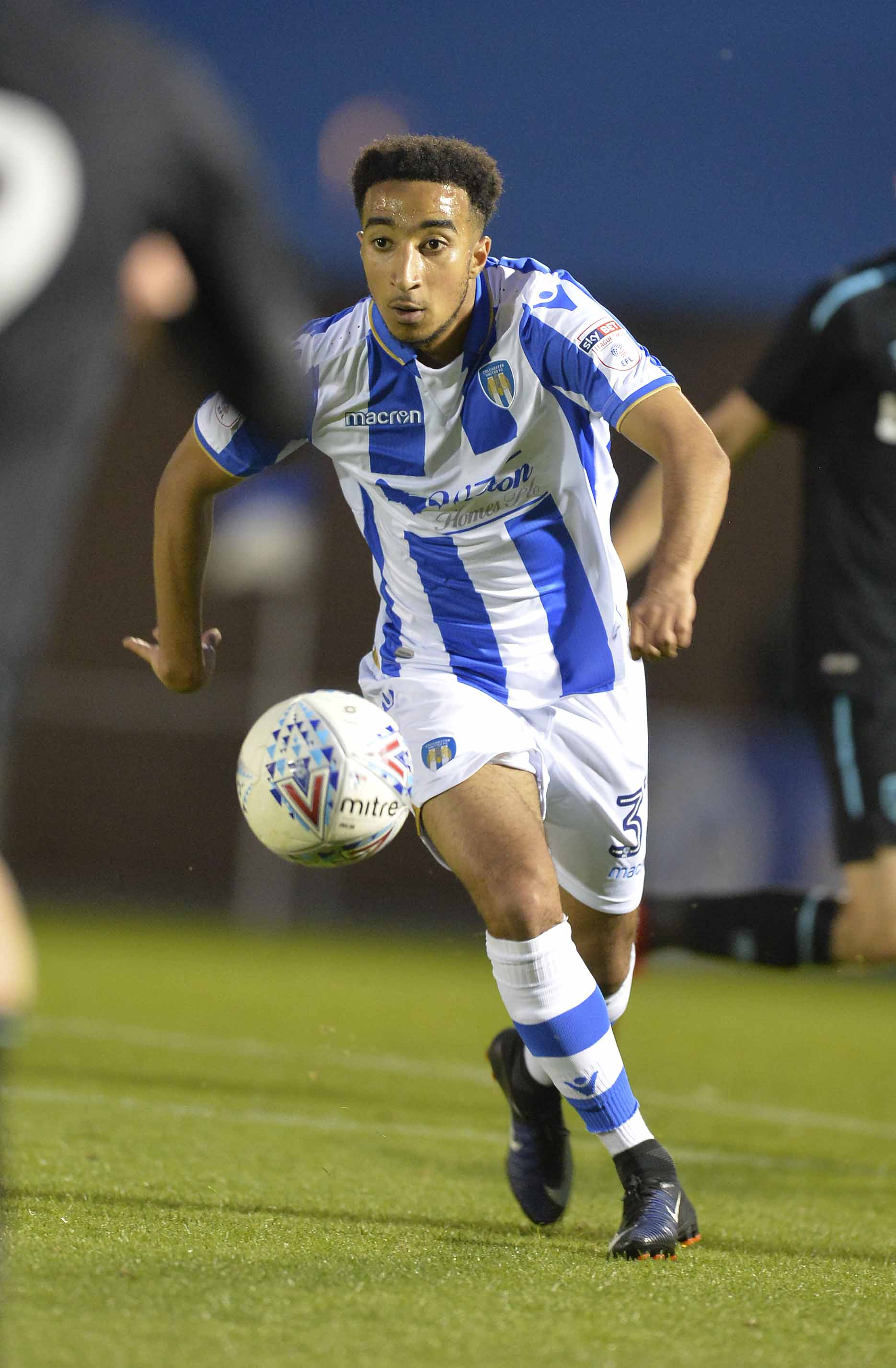 Back in action - Tariq Issa continued his comeback from an abductor injury to play for Colchester United under-23s in their 3-0 loss at Vicarage Road