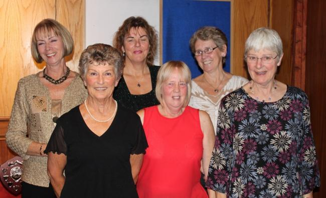 Ace effort - Wivenhoe Tennis Club's ladies' team, left to right: Lesley Connelly, Margaret Mitchell, Ginny Scott, Val Coy, Chris Pettman and Caroline Spencer. Missing from photo: Chris Jones (team captain), Claire Smee, Jeanette Shea