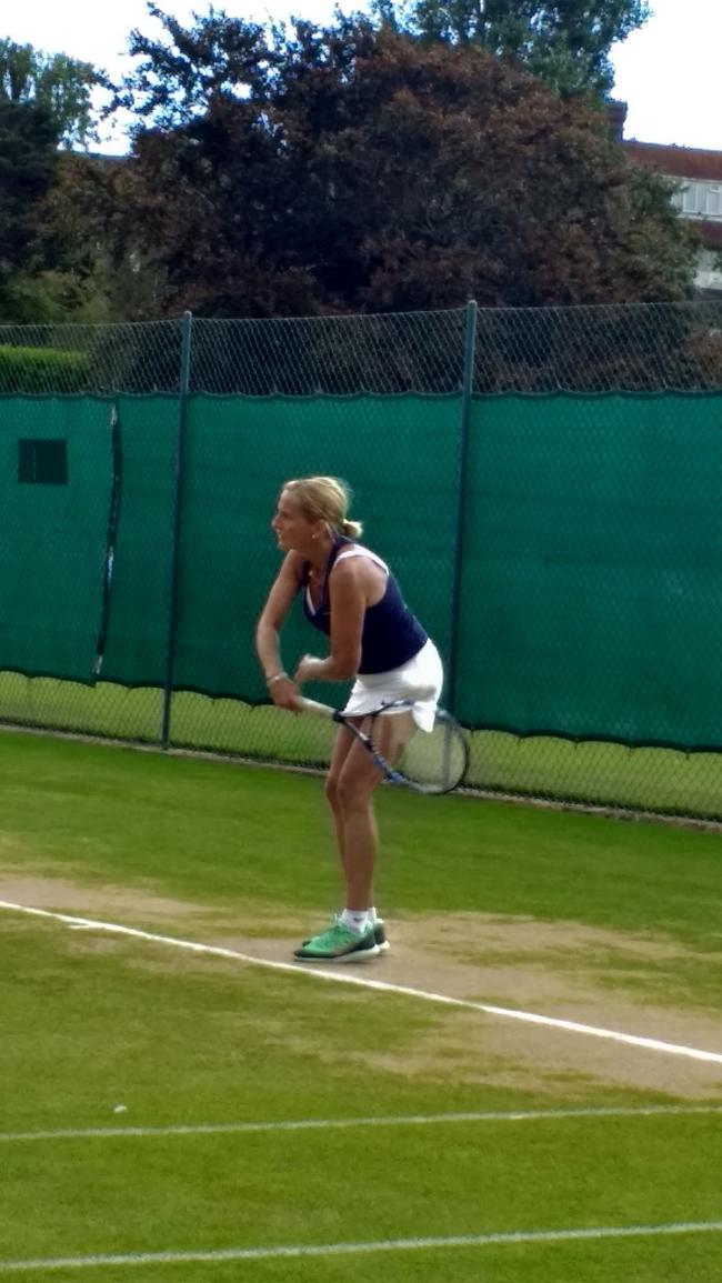 Ace result - Anne Burton won the ladies open title at the Stringers World Colchester and Distirct Individual Tournament Finals at Frinton Lawn Tennis Club