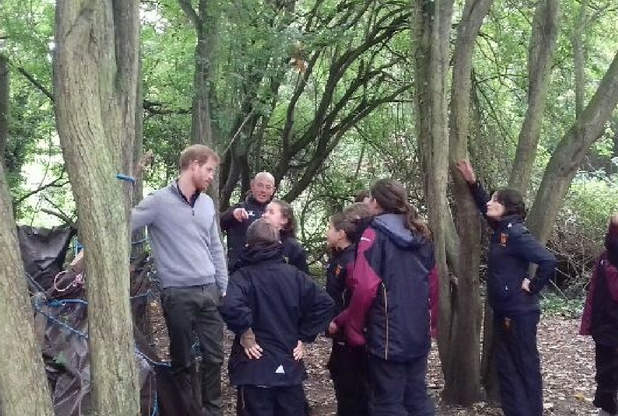 Prince Harry visits school children during nature programme