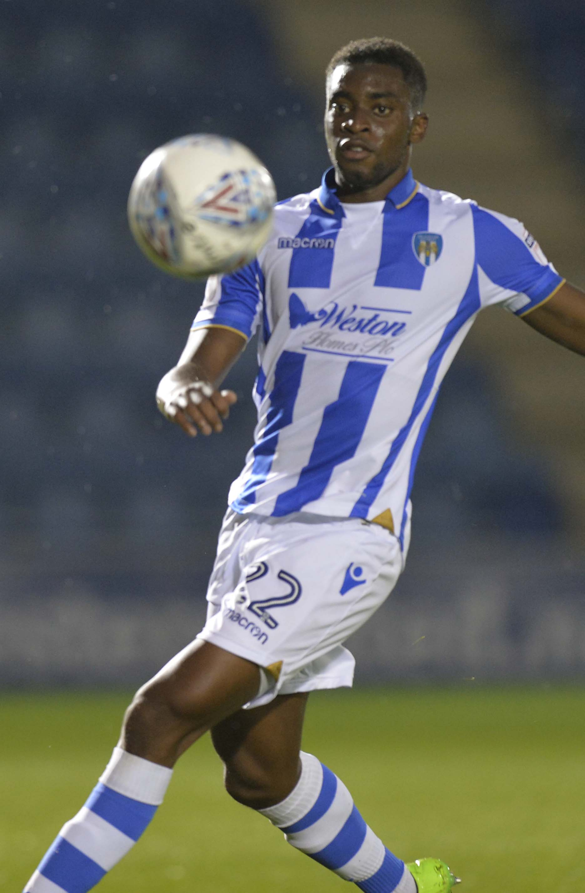 Impressive - Kane Vincent-Young has been in fine form for Colchester United over recent weeks Picture: STEVE BRADING