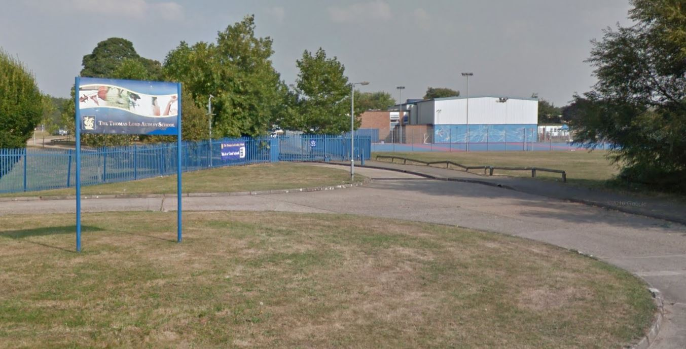 Scene - one of the incidents took place outside Thomas Lord Audley School