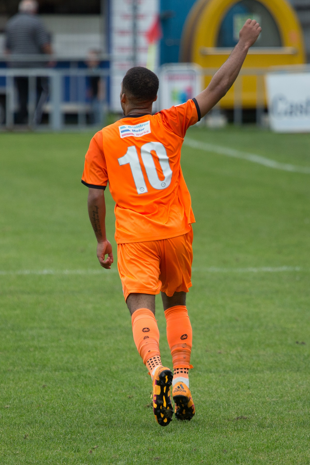 Roman Michael-Percil scored Braintree's equaliser late in the game at Chelmsford. Picture: Chris Jarvis