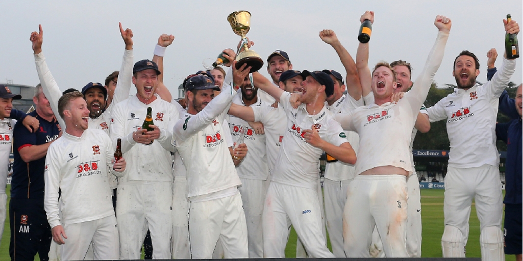 Euphoria - Essex hold aloft the County Championship title          Picture: GAVIN ELLIS/TGS PHOTO