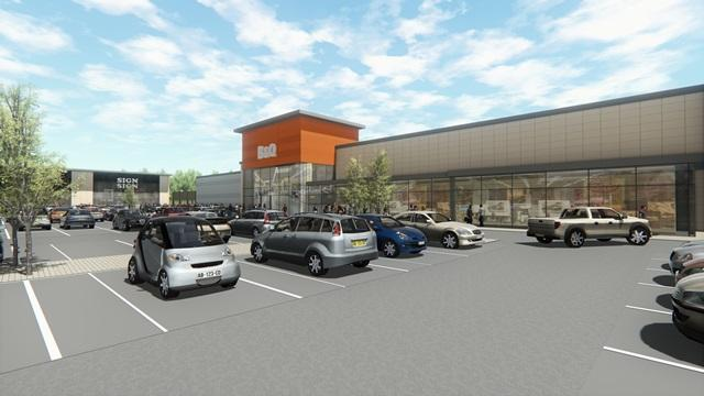 REVEALED:  Plans unveiled for Aldi supermarket and B&Q at retail park