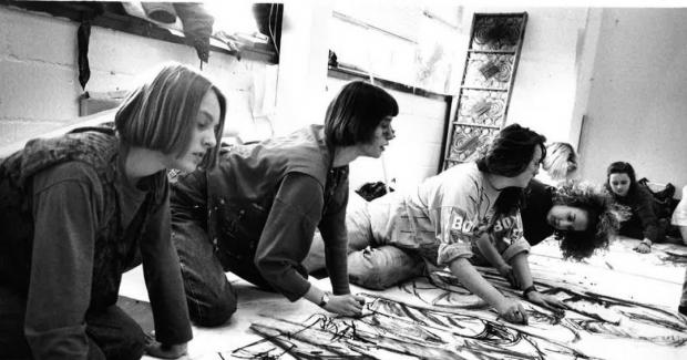 Gazette: Design - an art class in full swing at St Helena School during the 1990s.