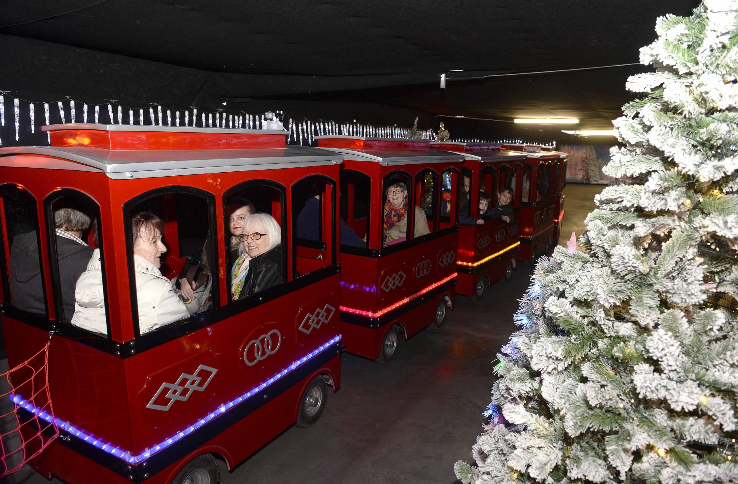 CHRISTMAS CANCELLED: The Santa train pictured at St Johns Plant Centre in 2015