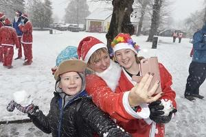 GALLERY: Colchester Santa Run in the snow