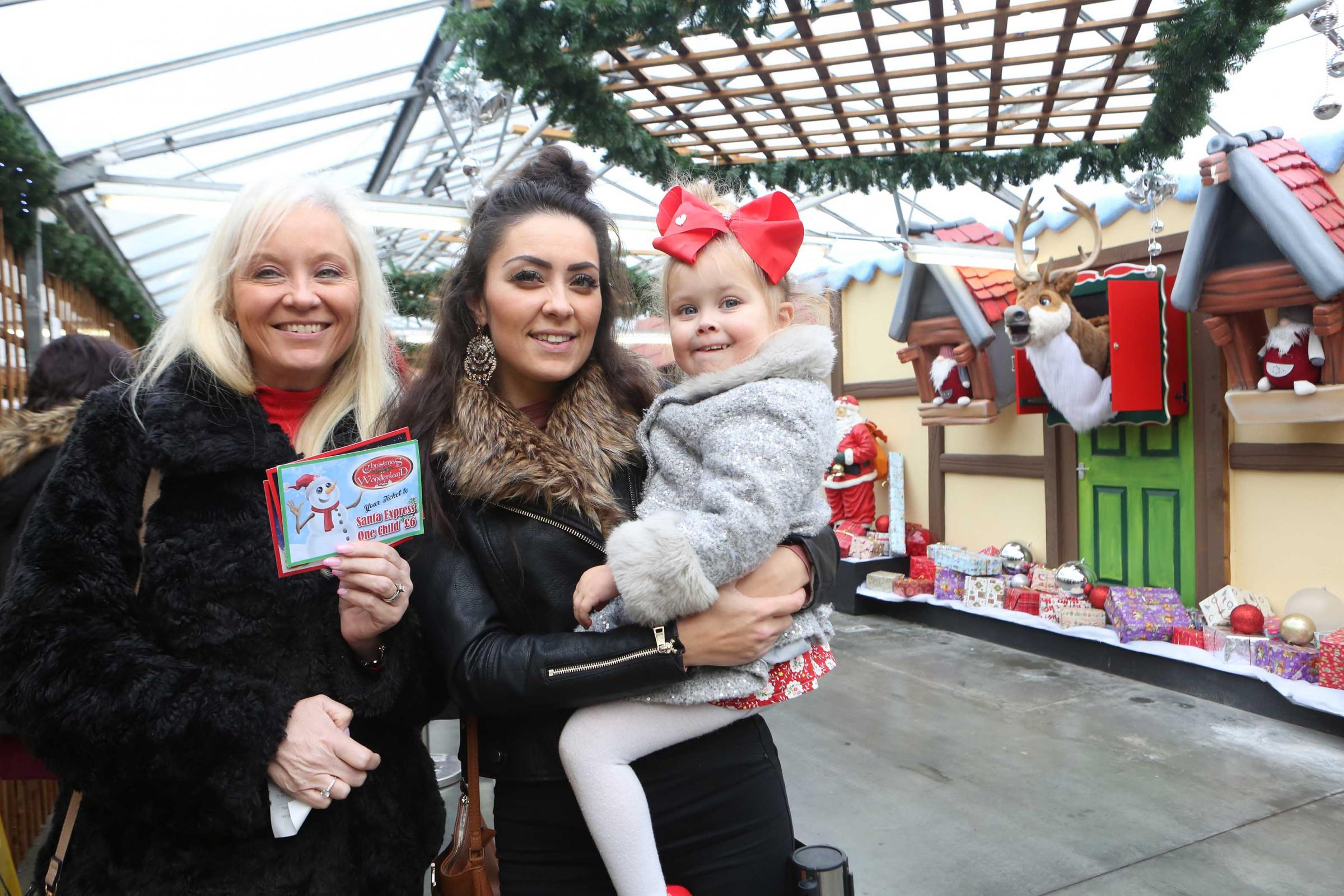 Happy customers - Families have turned out in force to visit Christmas Wonderland