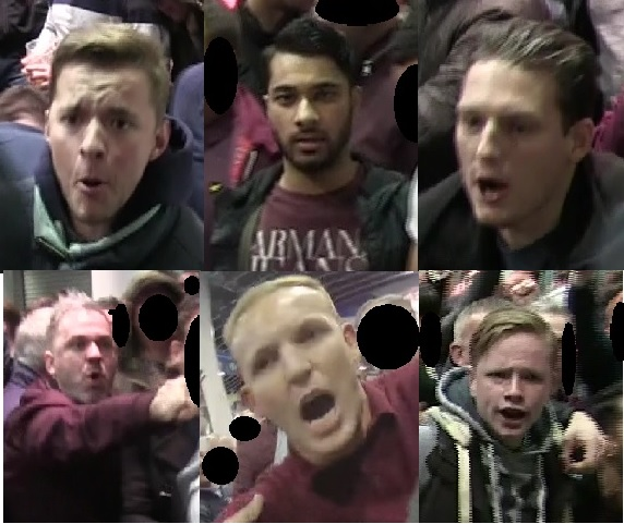 Police seek six men wanted after violence broke out at West Ham match