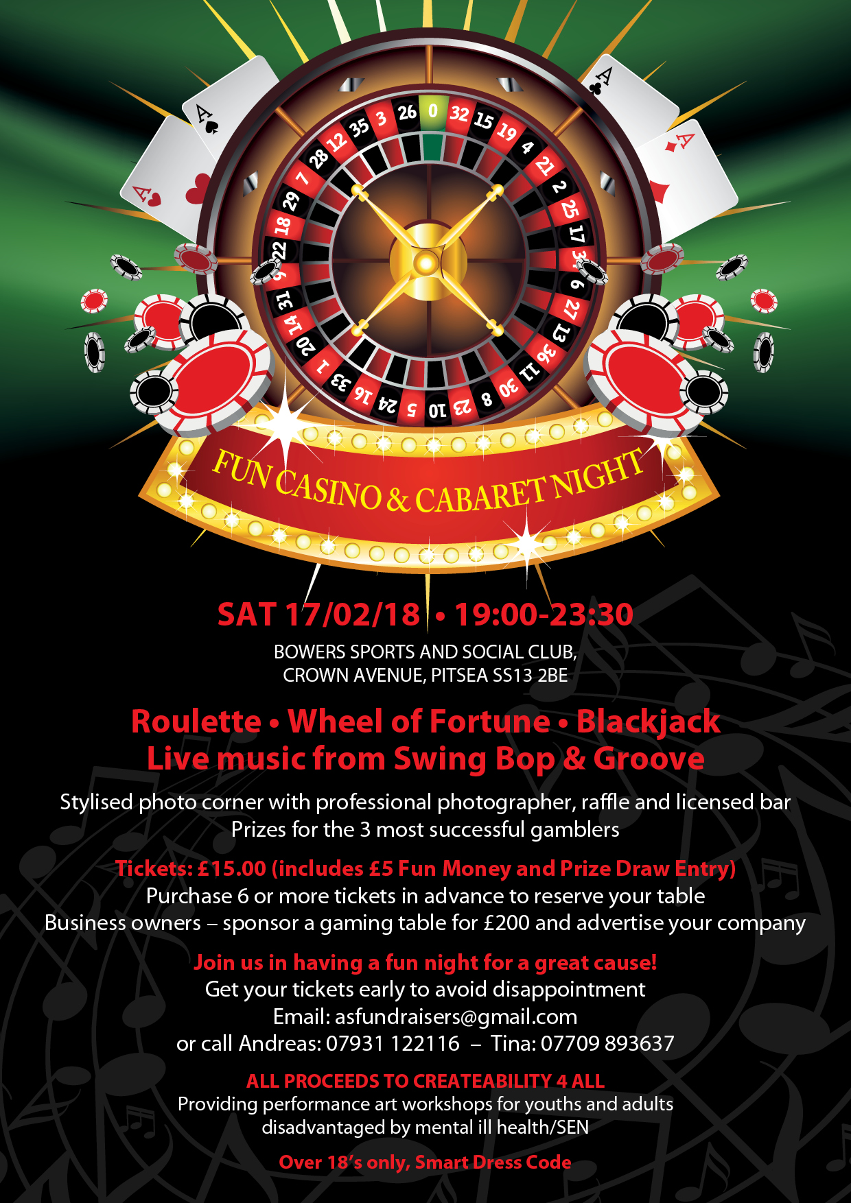 Fun Casino & Cabaret Night