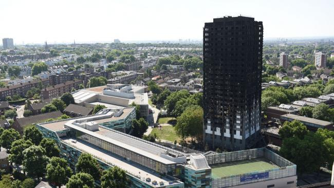 Tragedy - Grenfell Tower after the fire in June 2017