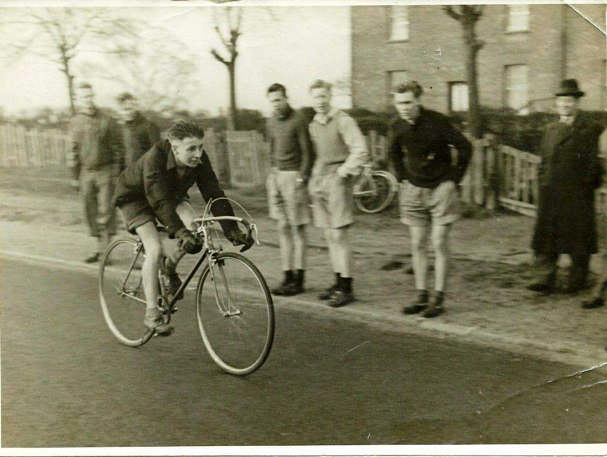Ernie Mann pictured when he was a member of Fountain Cycle Club in London