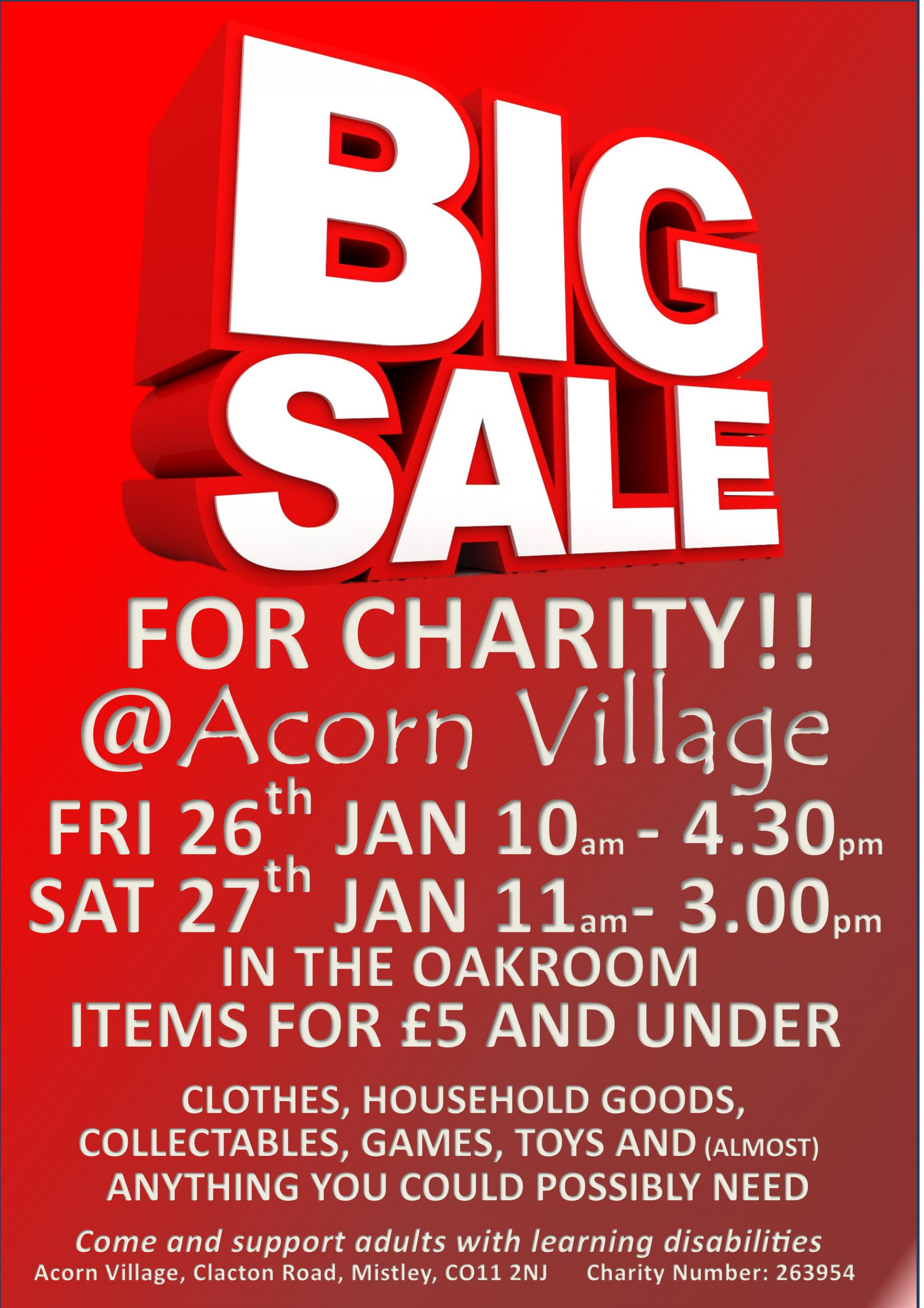 £5 & Under Big Charity Sale