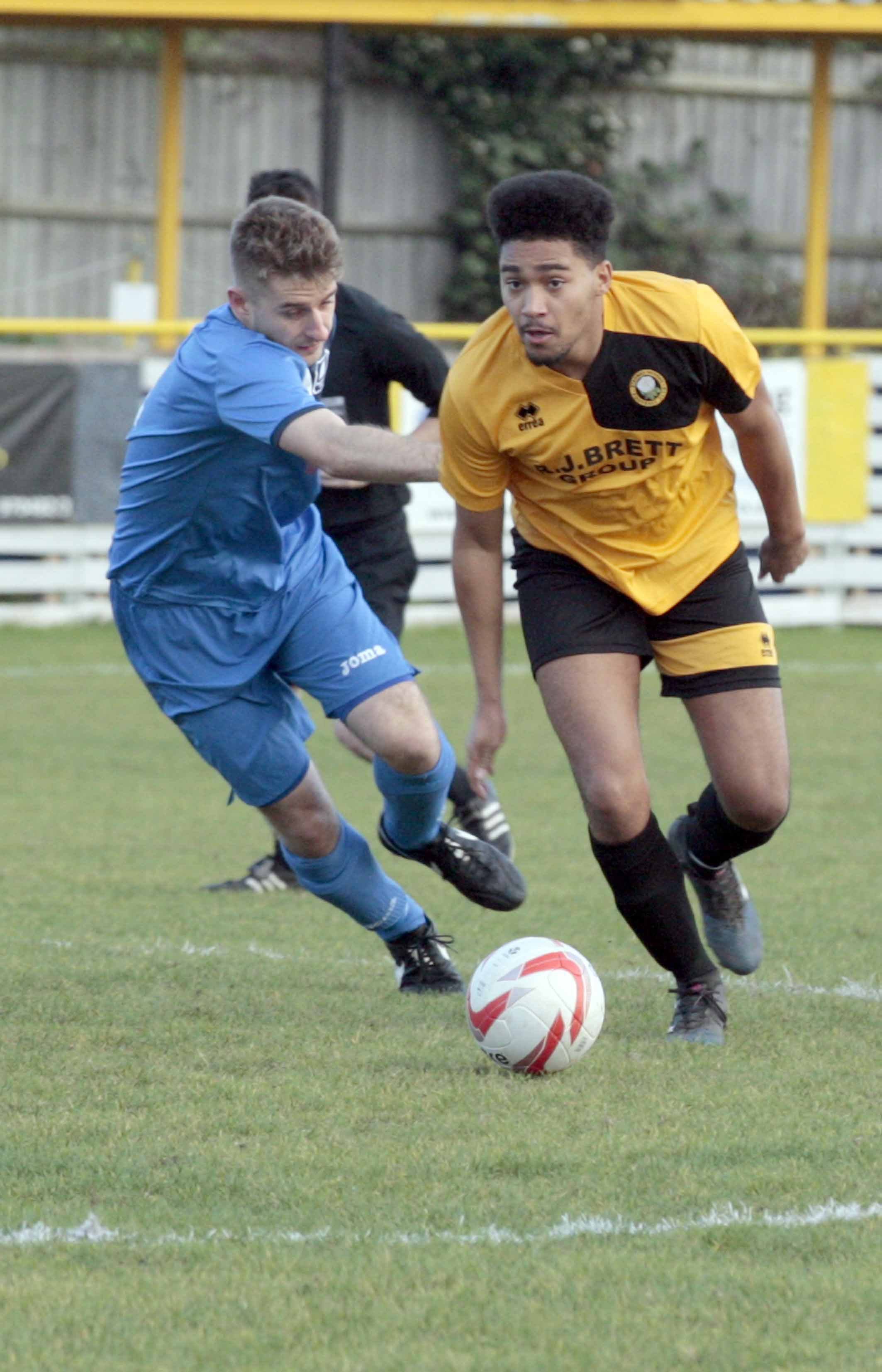 On target - Romario Dunne was among Stanway's scorers against Haverhill on Friday