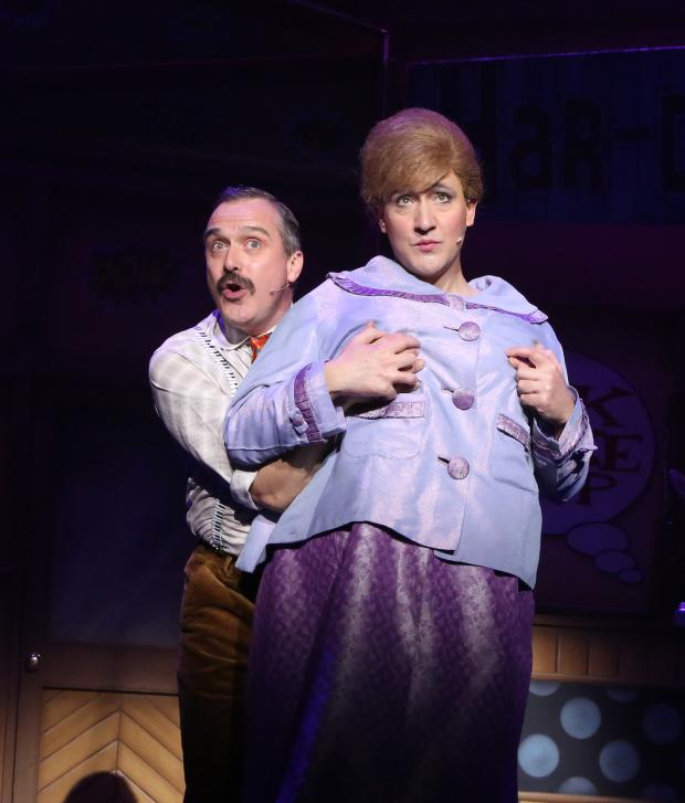 Gazette: Jonathan Davis and Olly Medlicott in Hairspray Picture: Sally Parkinson