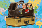 Gazette: Suitcases with Map