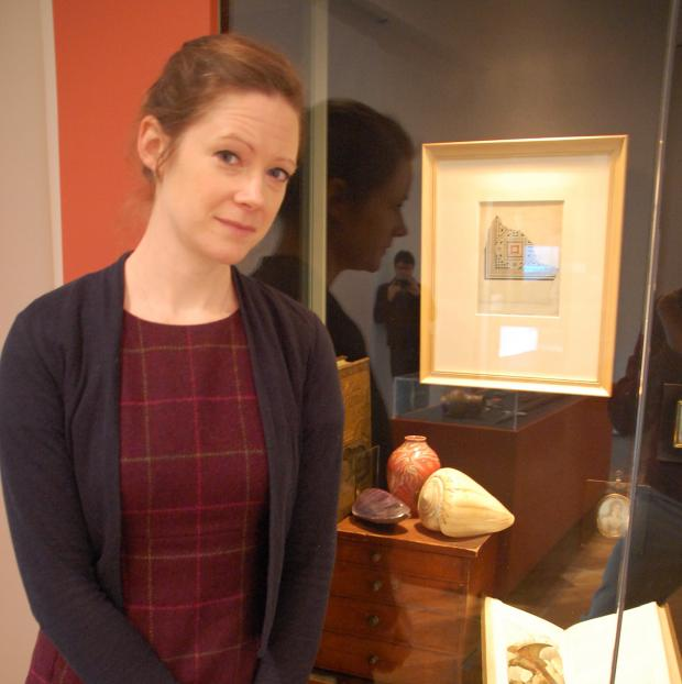 Gazette: Sophie Stevens, Emma Reeve, Collections and Learning Curator from Colchester and Ipswich Museums with her William de Morgan Vase
