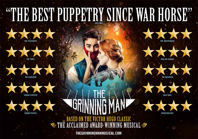 WIN TICKETS TO SEE THE GRINNING MAN