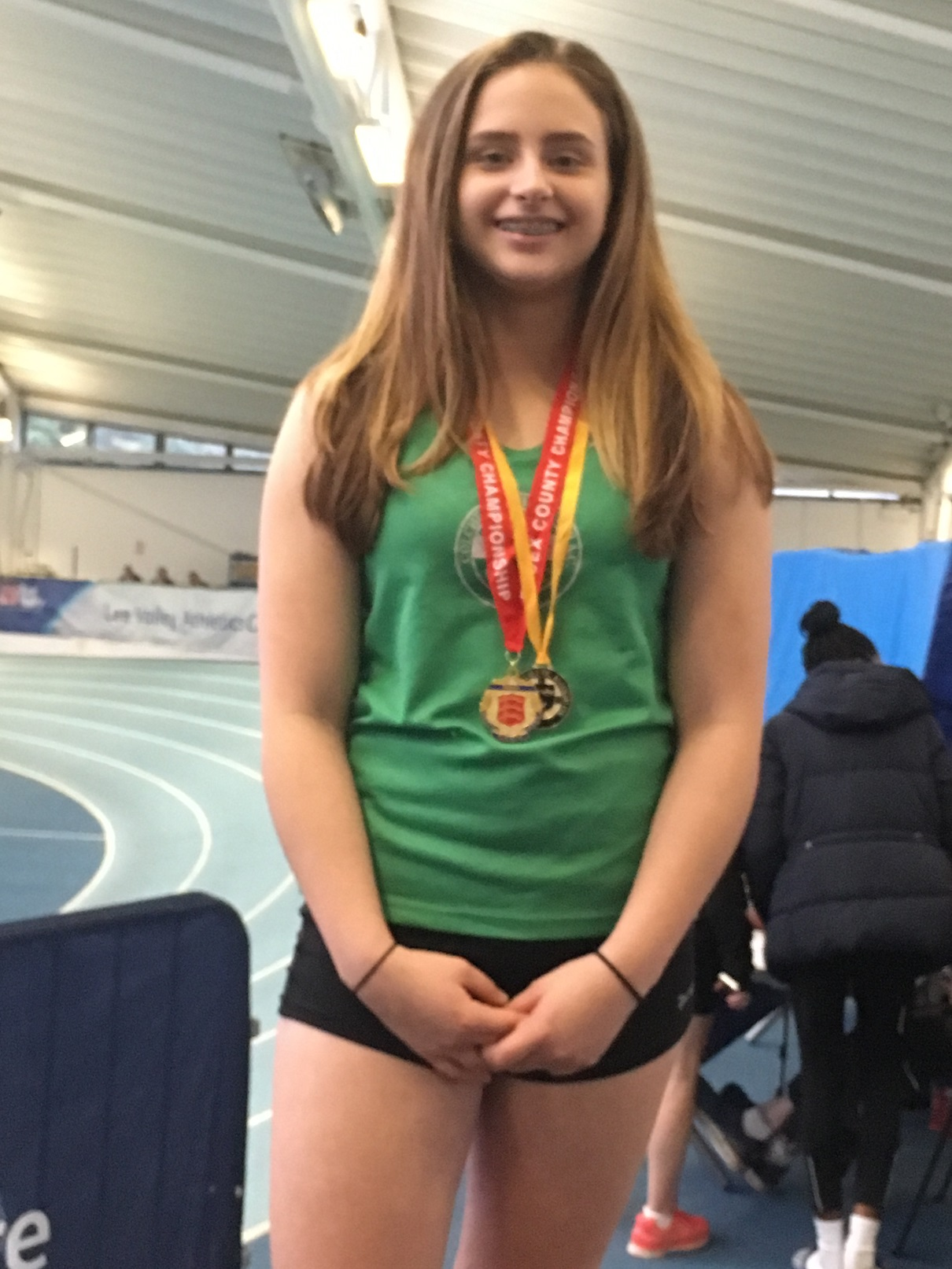 Double delight - Olivia Simon was crowned under-15 pole vault Essex and Eastern Counties champion