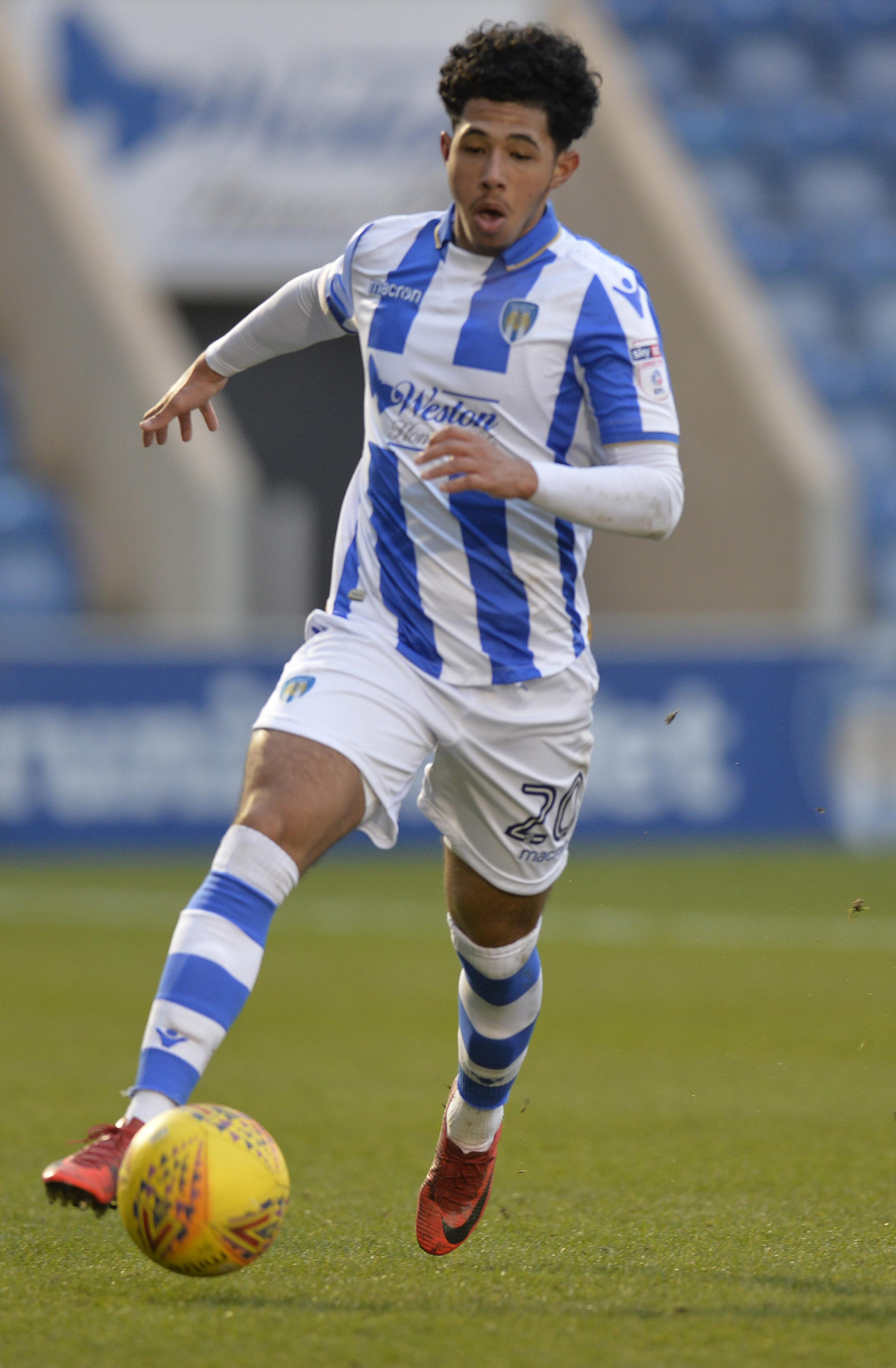 Dazzling - Courtney Senior has shone for Colchester United over recent weeks Picture: STEVE BRADING