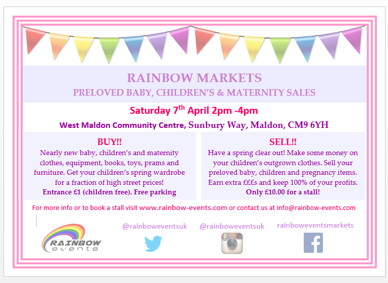 Nearly new baby and childrens sale Maldon