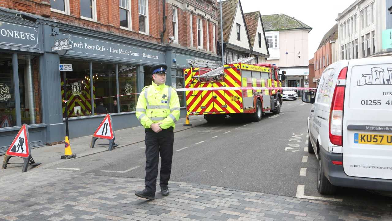 Shops evacuated after suspected gas leak
