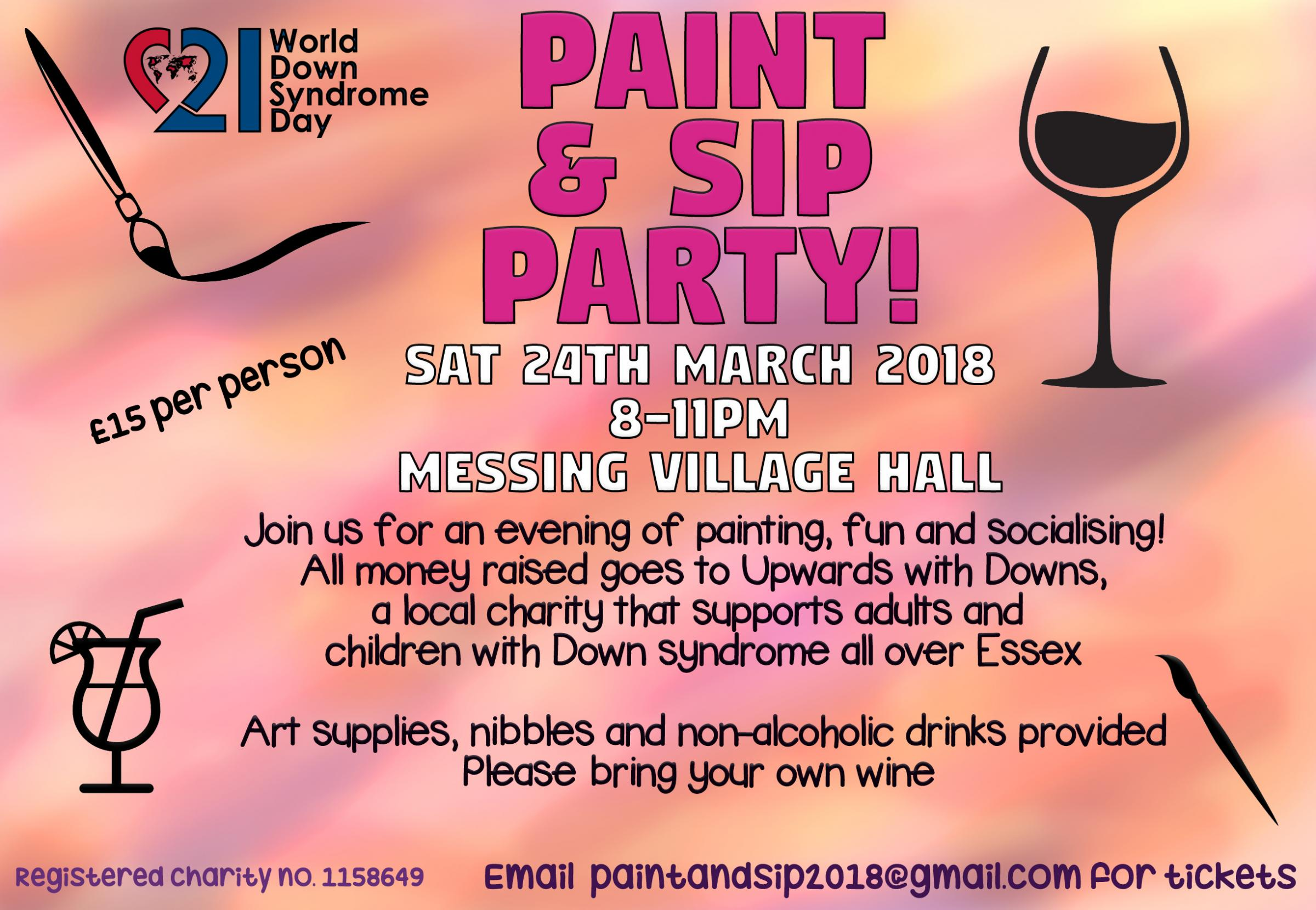 Paint and Sip Party! World Down Syndrome Day Fundraiser