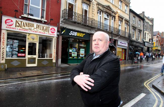 Public safety boss Mike Lilley in Queen Street, which is a short walk away from Long Wyre Street