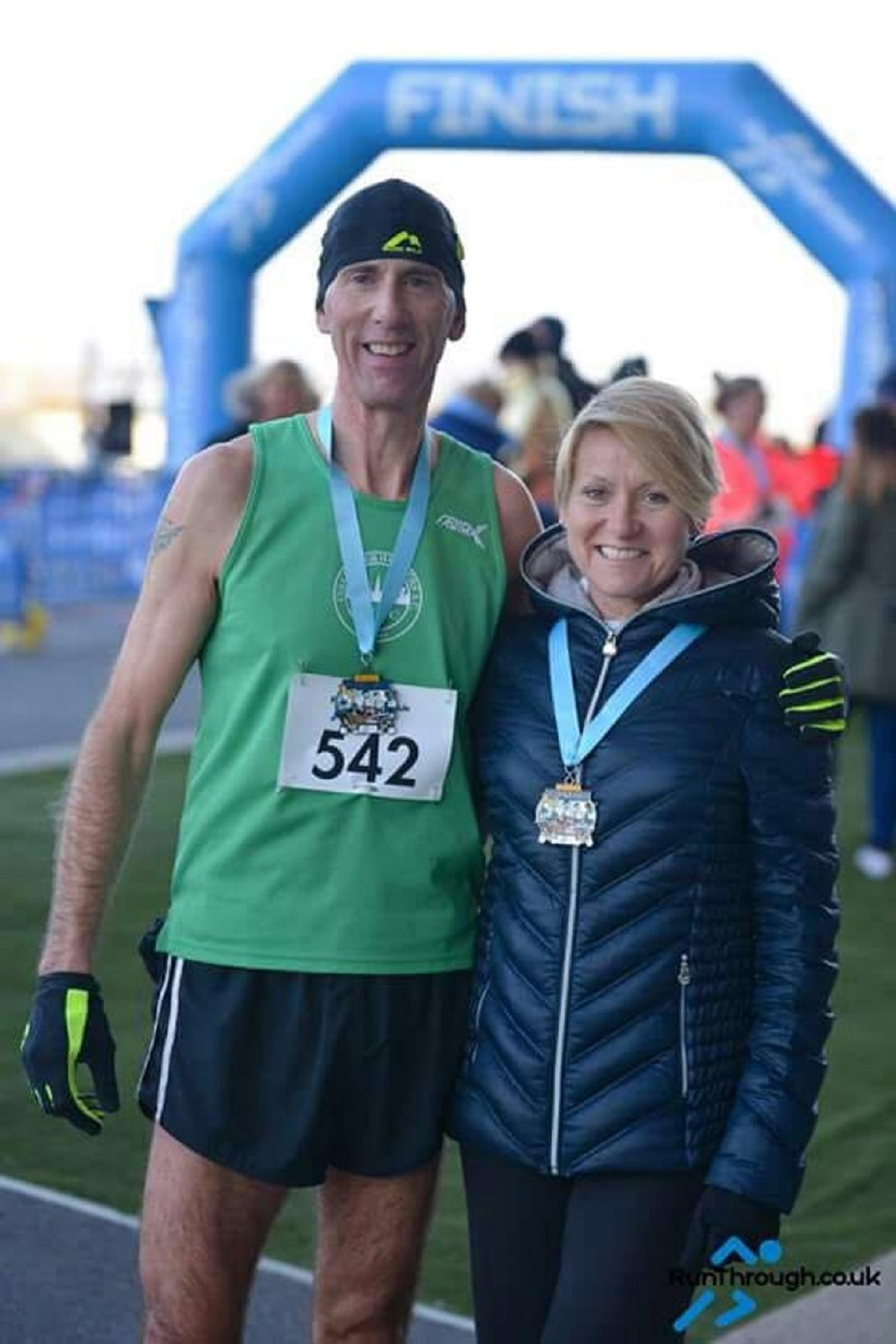 Fun in the Park - Colchester Harriers duo Richard Flutter and Debbie Cattermole who had great results at the Olympic Park