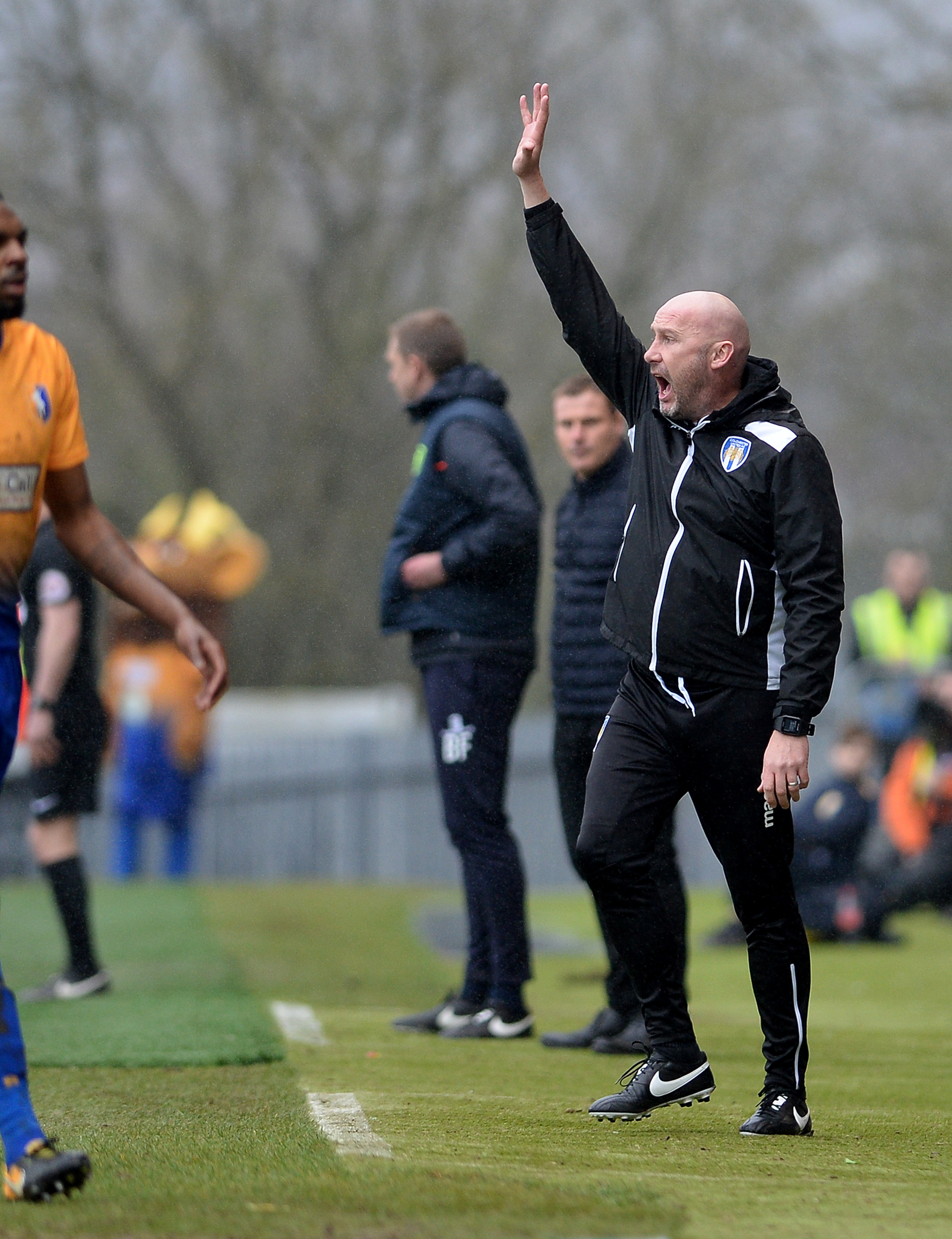 Statement of intent - Colchester United head coach John McGreal was pleased with the response to his formation change at Mansfield Picture: PAGEPIX