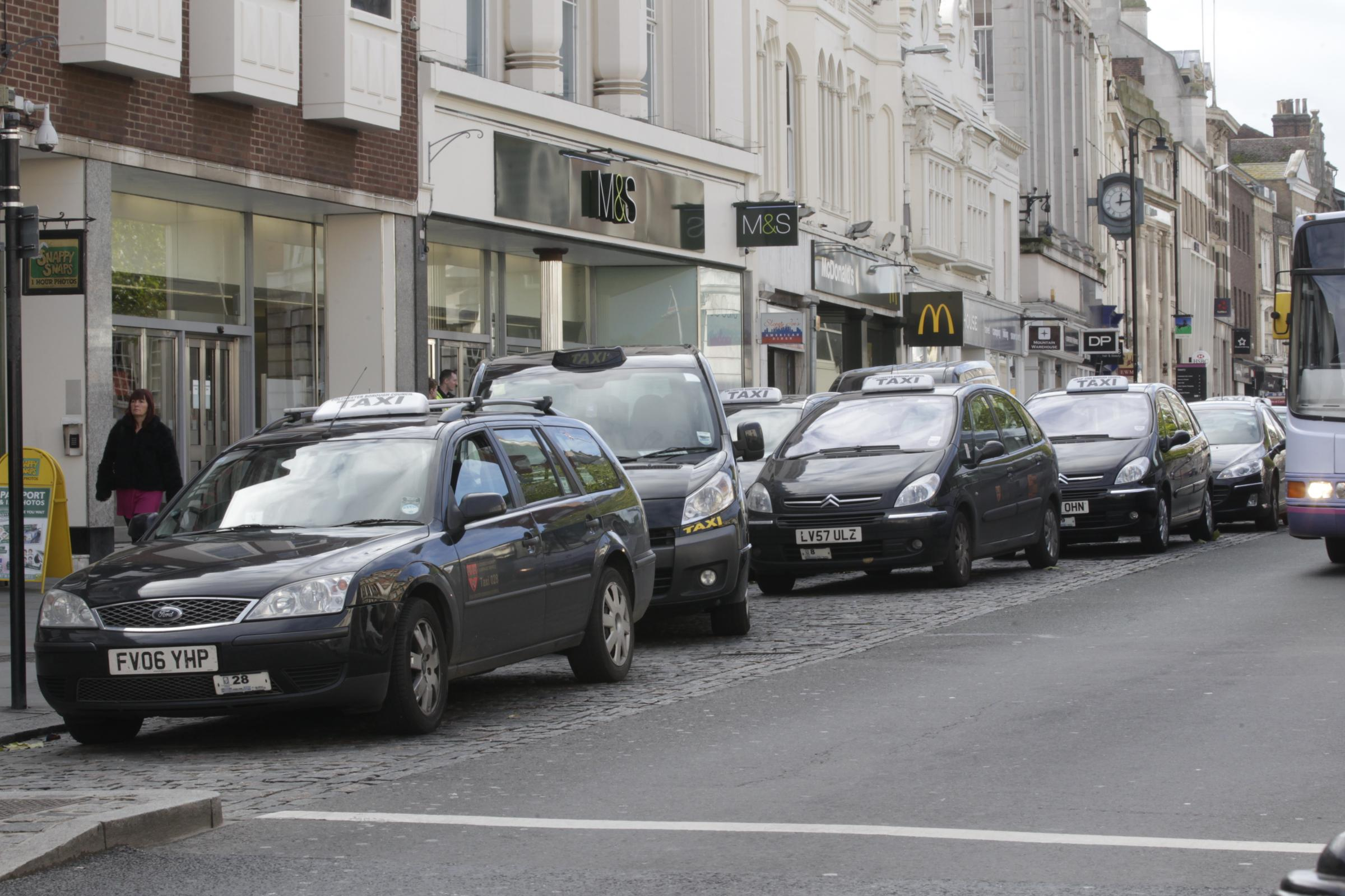 Taxis in Colchester High Street