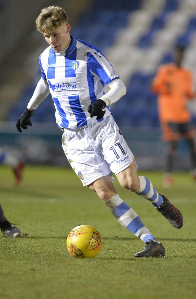 Unlucky - Ollie Sims came close to scoring for Colchester United's under-23s against Birmingham City Picture: STEVE BRADING