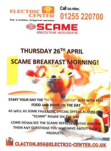 SCAME BREAKFAST MORNING