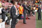 Brendan Rodgers (left) is not thinking of replacing Arsene Wenger (Peter Byrne/PA)