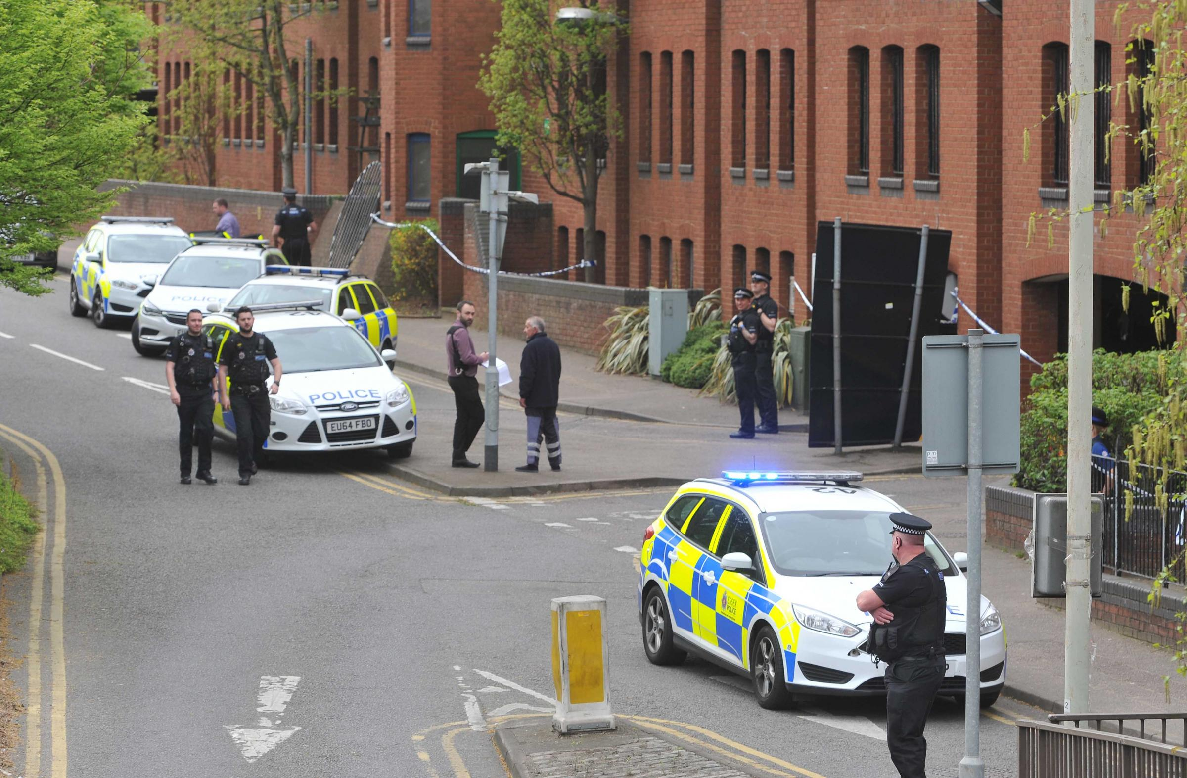 Lockdown - St Mary's car park after Martin Dines was found dead