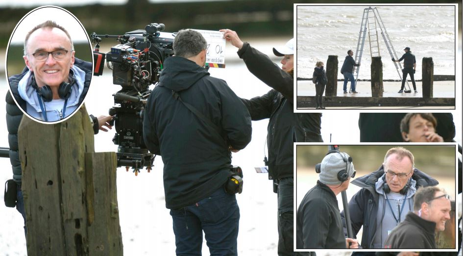 Filming - the crew were filming on north Essex coast