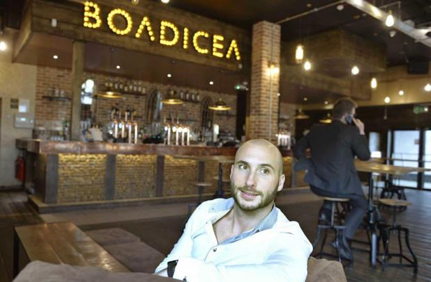 Gazette: Boadicea bar and restaurant at the Hythe, Colchester..Josh Campbell-Broome.