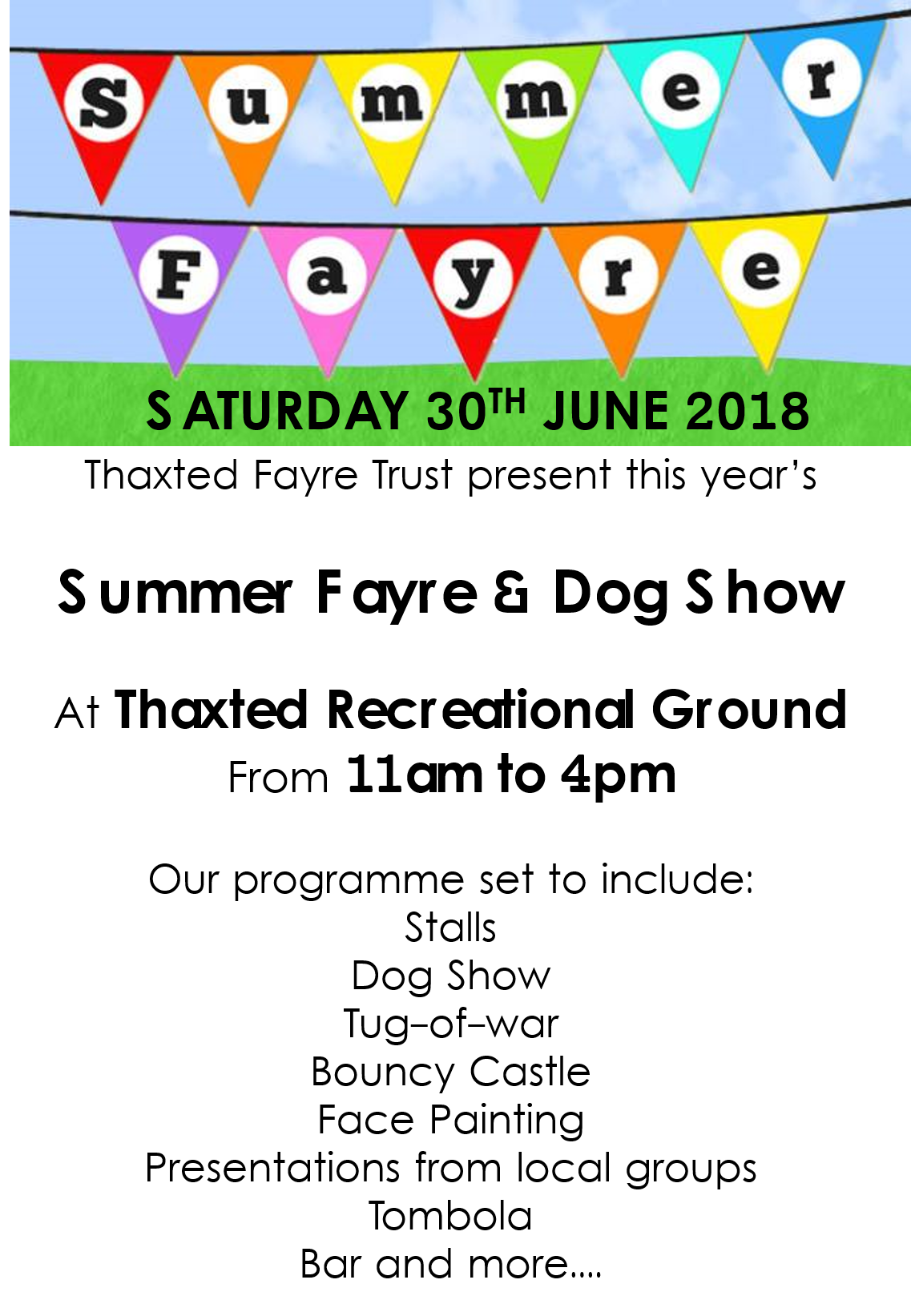 Thaxted Summer Fayre 2018