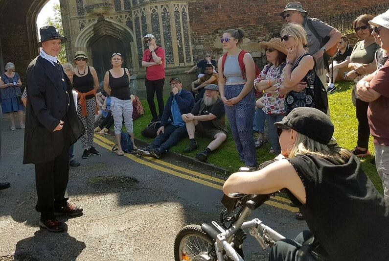 One of the Jane's Walk events in Colchester town centre