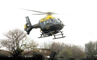 Police helicopter searches for men seen leaving crash scene in Latchingdon