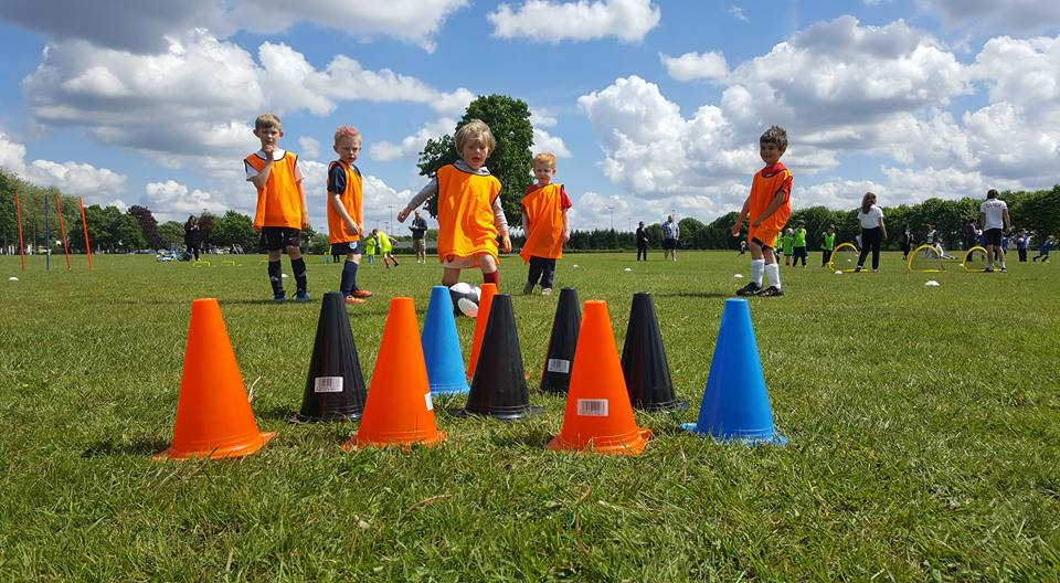 Younger competitors plan to attack the cones. Picture: Kickaround Colchester