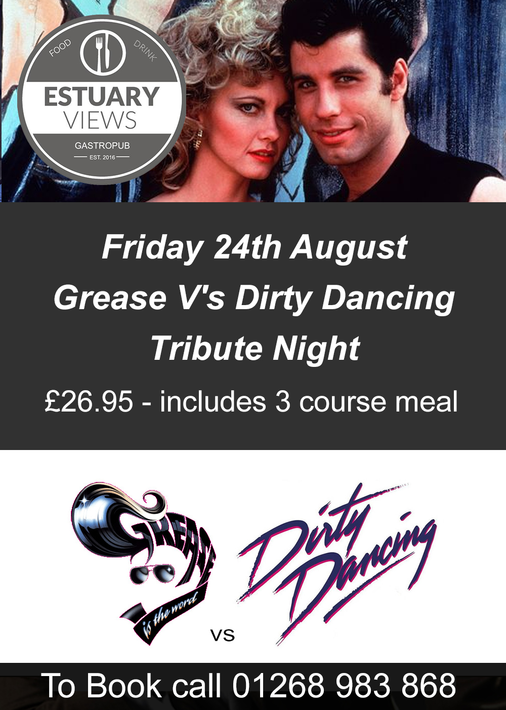 Grease v's Dirty Dancing Tribute Night