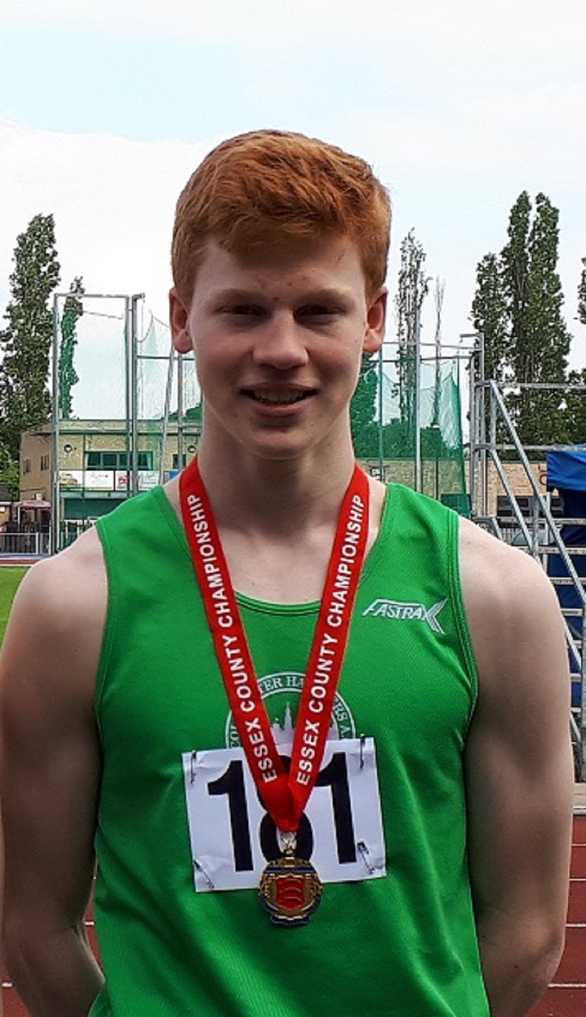 Jubilant - Colchester Harriers sprinter Charlie Dobson won 200m gold at the Essex Championships