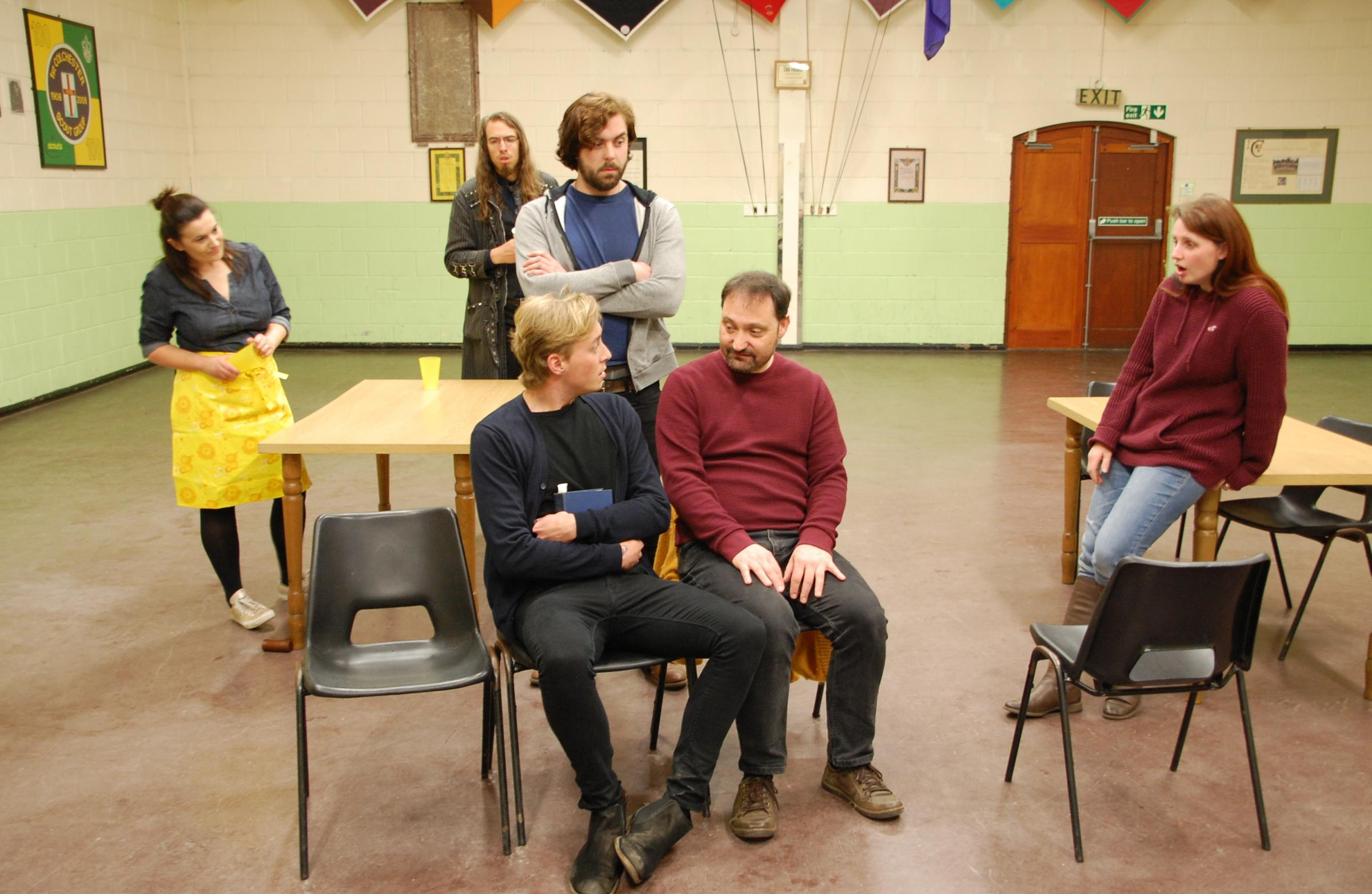 Rehearsals - The cast of The Foreigner appearing at the Headgate